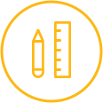 logo of pencil and ruler
