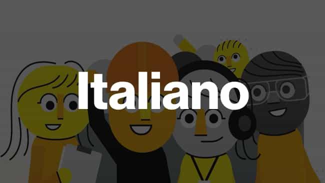 Italian language icon