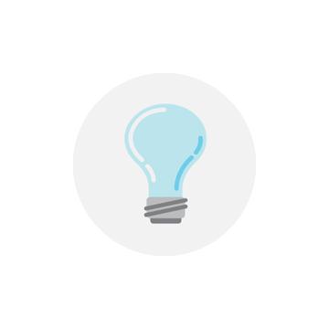 Illustrated image of lightbulb.