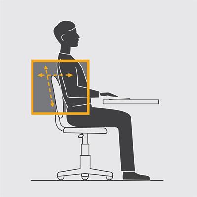 Illustration showing backrest support.